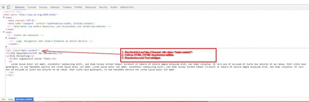 2.) HTML und CSS lernen - neue HTML-Elemente einfügen