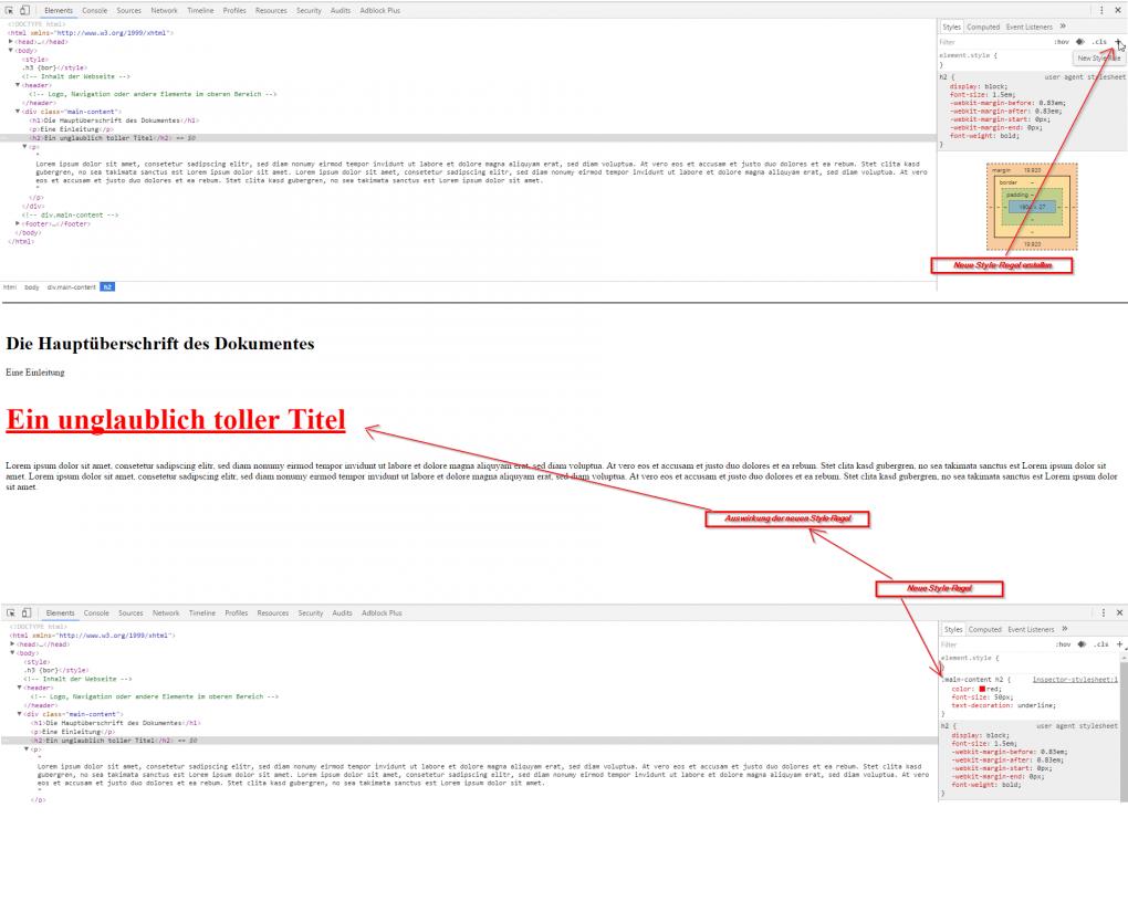 3.) HTML und CSS lernen - Styles anpassen